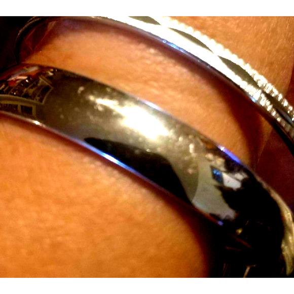 2 Beautiful Vtg Silver Monet Bracelets